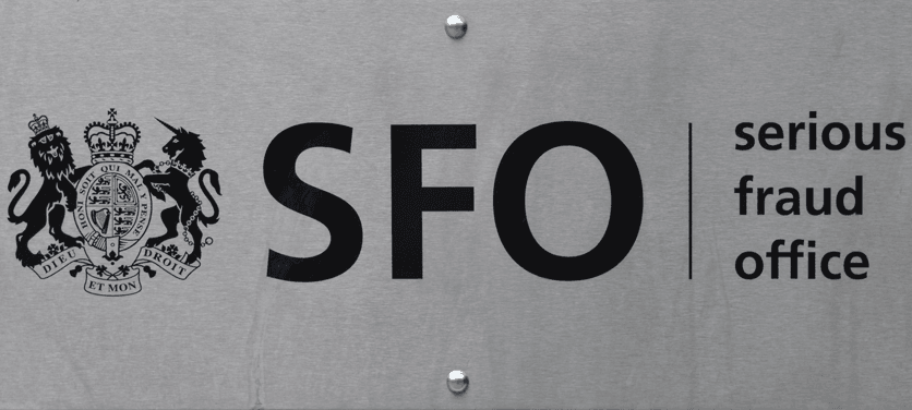 SFO serious fraud office logo sign lexlaw litigation professional negligence tax insolvency prosecution defence solicitor lawyer barrister london