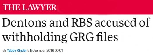RBS GRG Solicitors Barristers Litigation London Bank