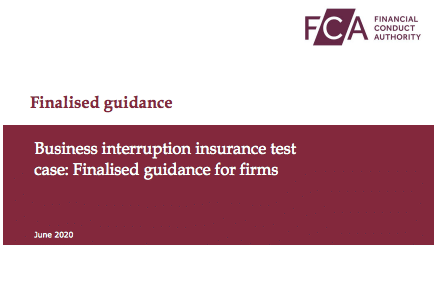business interruption insurance insured ABI BIBA FCA supreme court test case covid-19 coronavirus turnover loss FOS litigation